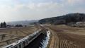 磐越西線の列車 カーブ ドローン撮影 48493100