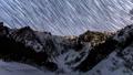 冬の一之倉沢から谷川岳に沈む星の軌道Timelapseズーム版 48497170