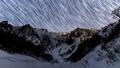 冬の一之倉沢から谷川岳に沈む星の軌道固定版 48497173