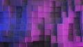 Beautiful Abstract Cubes in Blue and Purple Ultraviolet Light Looped 3d Animation. Color Wall Moving 48547190