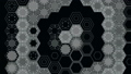 Abstract Hexagons on a Black Background, Loop 48603187