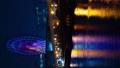 时间间隔间隔射击东京Odaiba摩天轮金星堡夜视图垂直视频缩放 48621383
