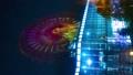 时间间隔间隔射击东京Odaiba摩天轮金星堡夜视图垂直视频缩放 48621389