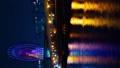时间间隔间隔射击东京Odaiba摩天轮金星堡夜视图垂直视频平移 48621393
