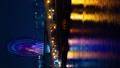 时间间隔间隔射击东京Odaiba摩天轮金星堡夜视图垂直视频平移 48621397