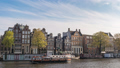 Amsterdam Netherlands city skyline time lapse 48649614