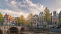 Amsterdam Netherlands city skyline time lapse 48649615