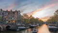 Amsterdam Netherlands city skyline time lapse 48649616