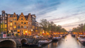 Amsterdam Netherlands city skyline time lapse 48649617
