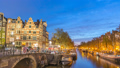 Amsterdam Netherlands city skyline time lapse 48649618