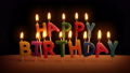 Happy Birthday Candles On Cake In The Dark 48683124
