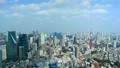 東京風景東京鐵塔,流動在六本木光和陰影時間間隔的雲彩固定 48692937