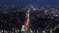 도쿄 황혼 시부야, 수도 고속 반짝 거리 시간 경과 빵 48695807