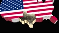Texas. USA. Political map. Texas State Map. Video has alpha channel. 66 48714792
