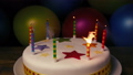 Candles Blown Out On Birthday Cake 48715373