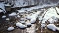 冬の定山渓温泉街 -月見橋からの眺め- 48719439
