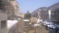 冬の定山渓温泉街 -月見橋からの眺め- 48719440