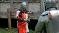 Two medieval knights fighting 48735786
