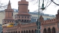 Yellow Subway train crossing Bridge in Berlin 48762798