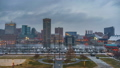 Day to night timelapse of Baltimore skyline and Inner Harbor from Federal Hill 48766234