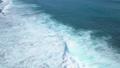 Big Ocean Waves Splashing and Making White Foam. Aerial FullHD Background. Uluwatu, Indonesia, Bali. 48776669