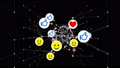 Smiles, Thumbs up and Hearts Symbols Looped 3d Animation. Social Media Icons Moving with Network 48776957