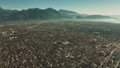 Aerial view of Forte dei Marmi and mountains in haze, Italy 48781169