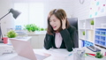 stress and overwork business woman 48811277
