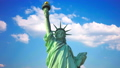 Statue of Liberty in the USA against the sky and clouds. 48844539