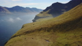 Denmark, Faroe Islands, North Atlantic islands in sun day of spring. Small Village on the coast 48845386