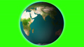 Realistic earth spinning with green screen HD  48867186