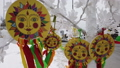 scenery to the celebration of Maslenitsa in Moscow 48877385