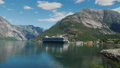 Drive along the picturesque coast of the fjord, where the ocean liner is moored 48877397