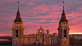 Beautiful view of the towers of the cathedral of Almudena in Madrid. Spain. 48896553