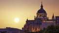 The majestic dome of the Almudena Cathedral in Madrid. Spain 48896560