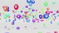 3D Animation Rendering of Smiley Bouncing Balls 48899353