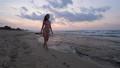Woman in bikini walking on sea beach 48902532