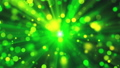 Blurred green lights as sun rays and shine particles with bokeh effect, 3d render, computer 48904211
