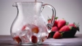Glass of red lemonade or juice 48933292
