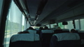Bus with tourists, view from inside the cabin 48933710