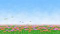 カーネーション チョウ ループ コピースペース 水彩 水彩画 手書き風 48990415
