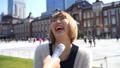 インタビュー 街頭インタビュー 女性の動画 49058536