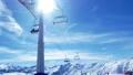 Mountain winter ski lift sun 49090170