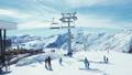 People skiing mountains 49090187