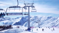 People skiing mountains 49090189