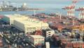 交易基地Aomi集装箱码头Timelapse泛 49097794