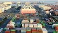 交易基地Aomi集装箱码头Timelapse泛 49098090