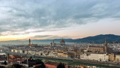 Aerial view of Florence, Italy at sunset. Cathedral Santa Maria 49110725