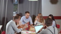 Working meeting of six young specialists in co-working area 49142857