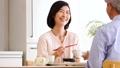中間夫婦餐桌膳食生活方式圖像 49178619